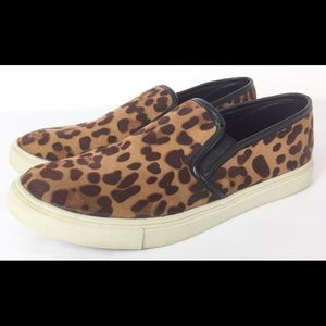 Mossimo leopard print slip on sneakers